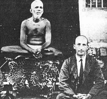 Paul Brunton with Ramana Maharshi