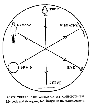 Plate 3, The world of my consciousness. My body                                 and it organs too, are images in my consciousness.
